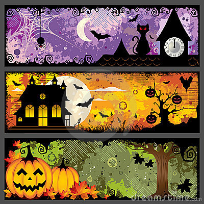 Free Halloween Banners Stock Image - 20835311