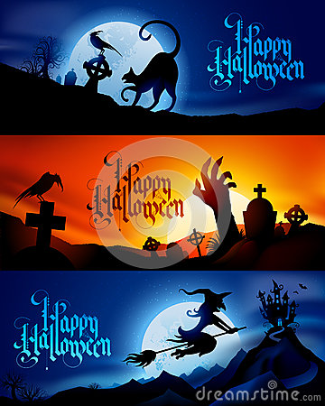 Free Halloween Banners Royalty Free Stock Images - 33603009