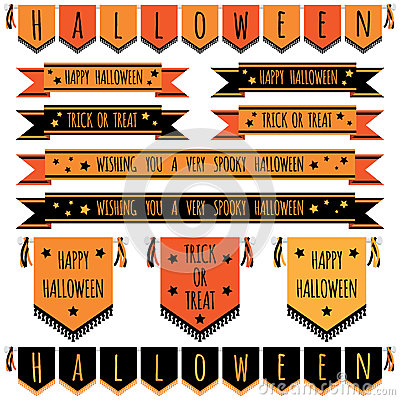 Free Halloween Banners Stock Photos - 43608493