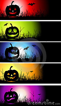 Free Halloween Banners For Your Design Stock Images - 10967764