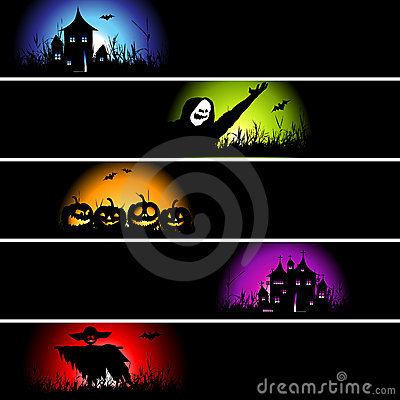 Free Halloween Banners For Your Design Royalty Free Stock Photos - 10967768