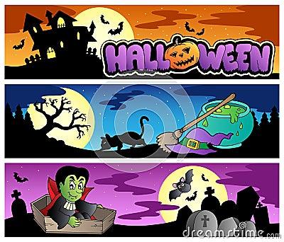 Halloween banners set 3