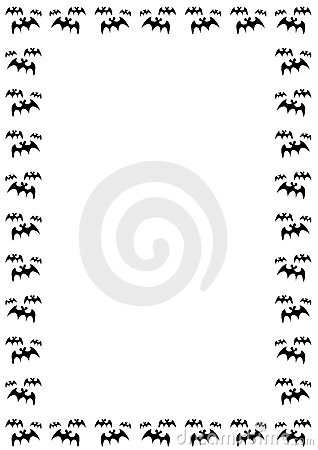 Halloween Bat Border