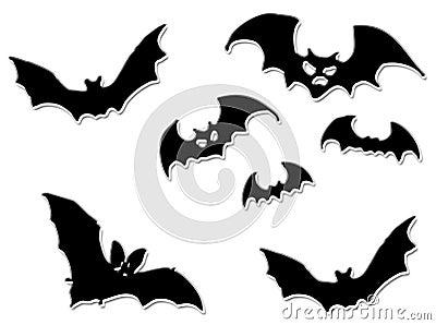 Halloween bats flying