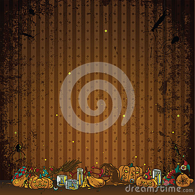Halloween beautiful illustrative decoration