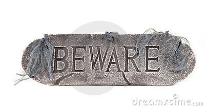 Halloween Beware sign