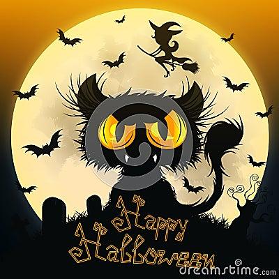 Free Halloween Black Cat Royalty Free Stock Photo - 101418105