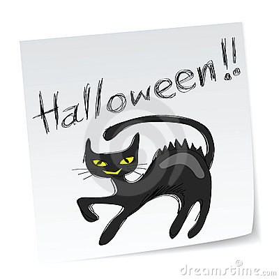 Free Halloween Black Cat Stock Photos - 15936303