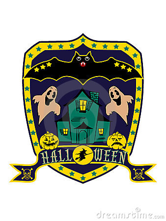 Halloween blazon, isolated