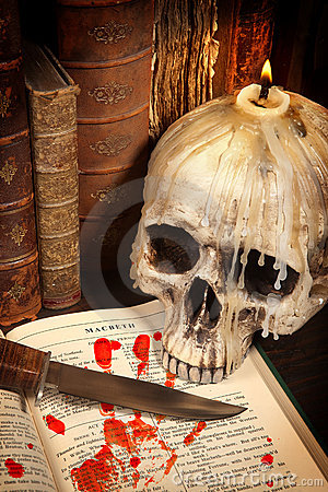 Halloween book and skull 3