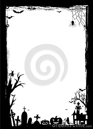Halloween border Vector Illustration