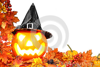 Halloween border Stock Photo