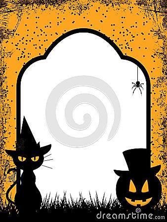 Halloween border background