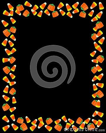 Halloween Border Candy Corn