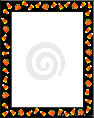 Halloween Border Candy Corn