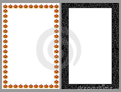 Halloween borders frames