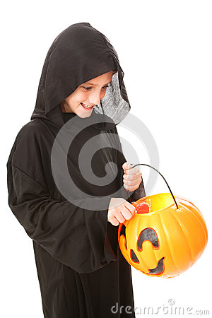 Halloween Boy with Candy