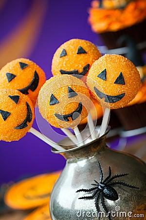 Free Halloween Cake Pops Royalty Free Stock Photos - 26160538
