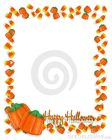 Halloween-Candy border