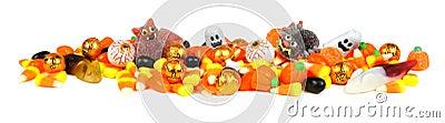 Halloween candy border Stock Photo