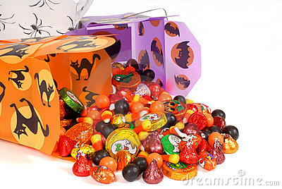 Halloween candy in chinese containers