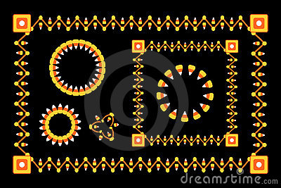 Halloween Candy Corn Borders