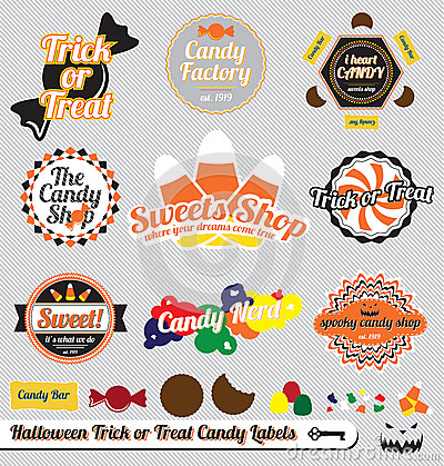 Halloween Candy Labels and Stickers