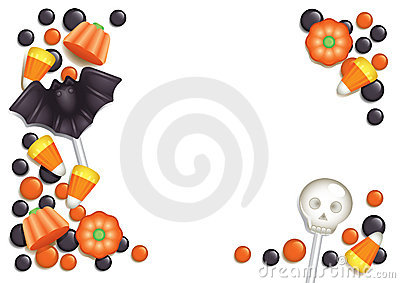 Halloween candy postcard