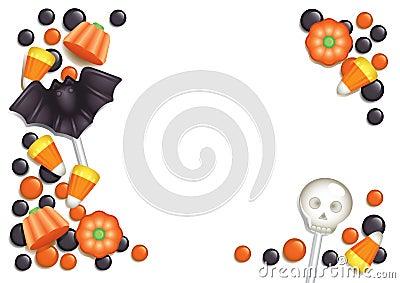 Halloween candy postcard