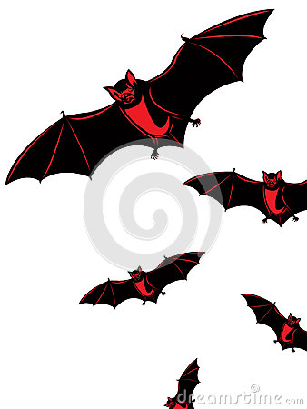 Halloween card with bats
