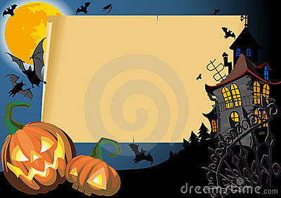 Halloween Card with blank