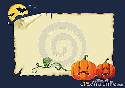 Halloween card, no gradients