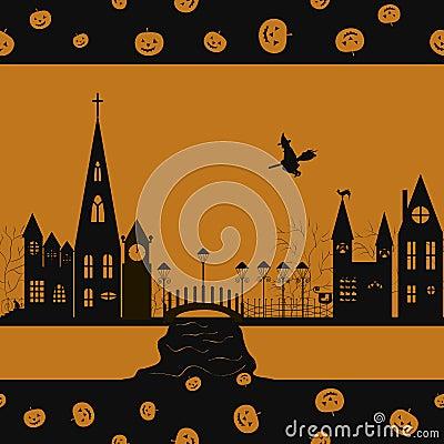 Halloween card seamless pattern