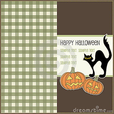 Halloween card, vector