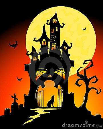 Halloween castle.