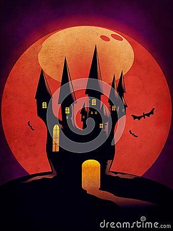 Halloween Castle grunge background