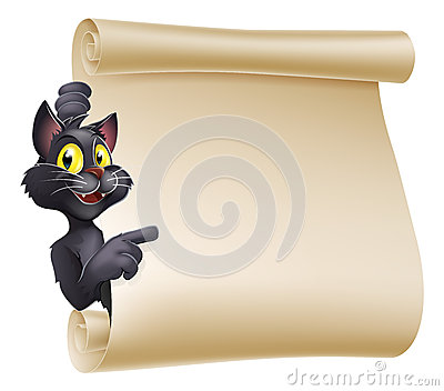 Halloween Cat Scroll