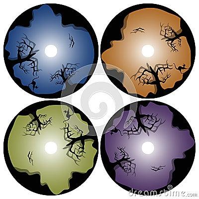 Halloween cd design template