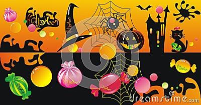 Halloween character set