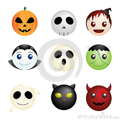 Halloween characters icons