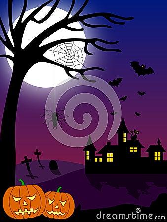 Halloween City Scene [2]