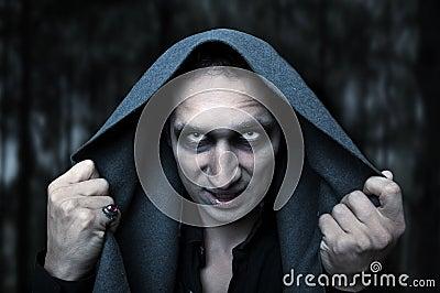 Halloween concept. Mystery evil eyes