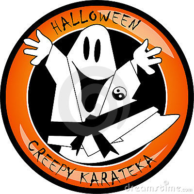 Halloween creepy karateka ghost