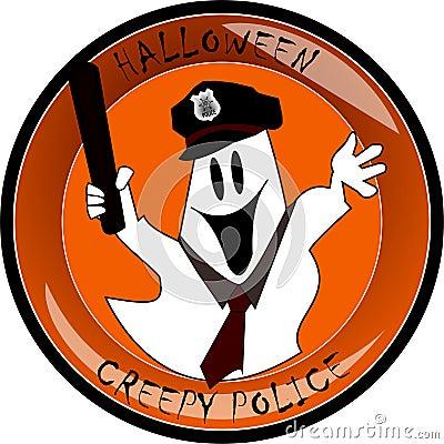 Halloween creepy police ghost