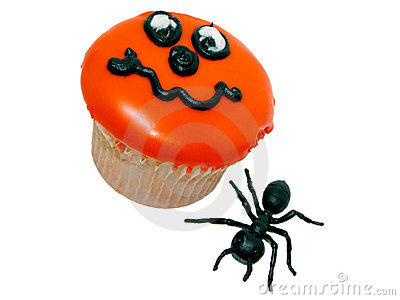 Halloween Cupcake and Rubber Ant