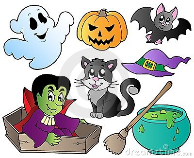 Halloween cute cartoons set 1