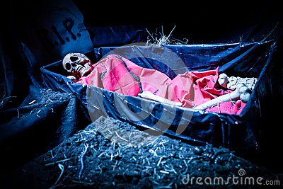 Halloween decoration doll skeleton
