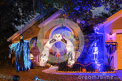 Halloween Decoration In A Home Stock Photo  Image: 48791907 - Halloween Decorations Usa