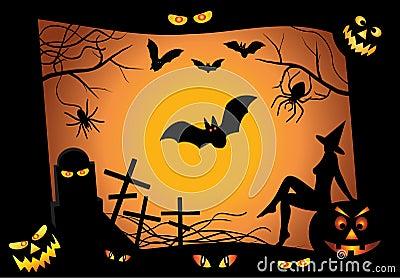 Halloween design elements. vector