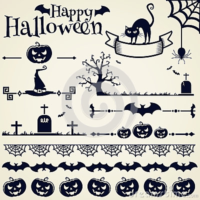 Free Halloween Design Elements. Vector Set. Stock Photography - 43744242